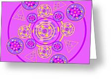 The Universal Spin Of Violet Greeting Card