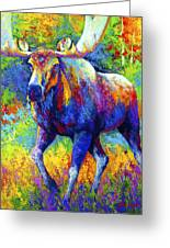 The Urge To Merge - Bull Moose Greeting Card by Marion Rose