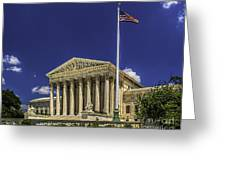 The Us Supreme Court Greeting Card