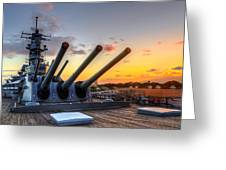 The Uss Missouri's Last Days Greeting Card