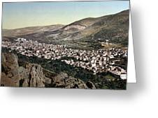 The Vale Of Nablus Greeting Card