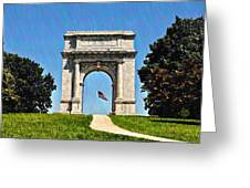 The Valley Forge Arch Greeting Card