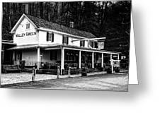 The Valley Green Inn In Black And White Greeting Card