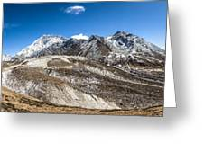 The Valley Leading To Mt Everest In Nepal Greeting Card