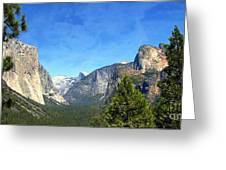 The Valley Of Inspiration-yosemite Greeting Card