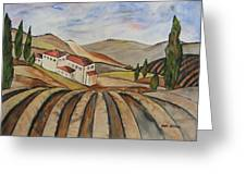 The Valley Of Jesrael Greeting Card