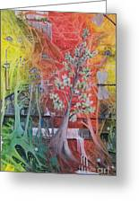 The Valley Of The Cotton Tree Greeting Card