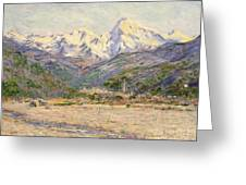 The Valley Of The Nervia, 1884  Greeting Card