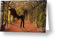 The Vampire In The Garden Greeting Card
