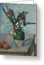 The Vase Of Tulips Greeting Card