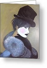 The Velvet Hat Greeting Card