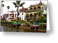 The Venice Canal Historic District Greeting Card