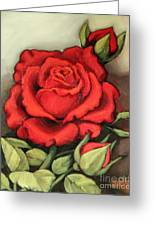 The Very Red Rose Greeting Card