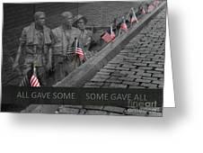 The Vietnam War Memorial Greeting Card