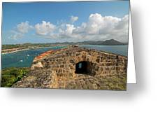 The View From Fort Rodney On Pigeon Island Gros Islet Caribbean Greeting Card