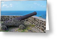 The View From Fort Rodney On Pigeon Island Gros Islet Saint Lucia Cannon Greeting Card