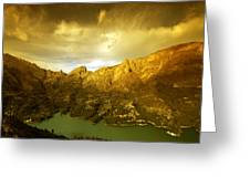 the view from Guadalest Greeting Card