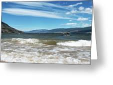The View From Okanagan Beach Greeting Card