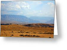 The View From Red Gulch Greeting Card