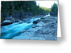 The View Of A River Greeting Card
