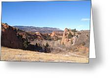 The View Of Red Rock Greeting Card