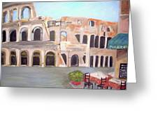 The View Of The Coliseum In Rome Greeting Card