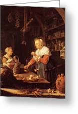 The Village Grocer 1647 Greeting Card