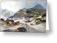 The Village Of Angangueo Greeting Card