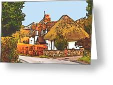 The Village Of Chilbolton Greeting Card