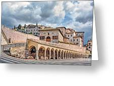 The Village Of St. Francis Of Assisi Greeting Card