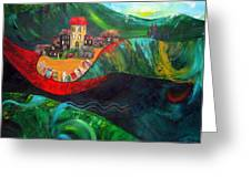The Village Rivers I Greeting Card