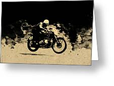 The Vintage Motorcycle Racer Greeting Card