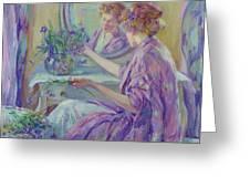 The Violet Kimono 1911 Greeting Card