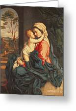 The Virgin And Child Embracing Greeting Card