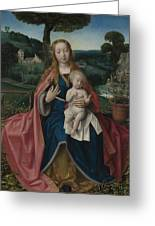 The Virgin And Child In A Landscape Greeting Card