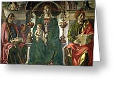 The Virgin And Saints Greeting Card