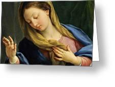 The Virgin Annunciate Greeting Card
