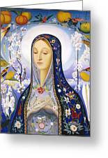 The Virgin,  Joseph Stella Greeting Card