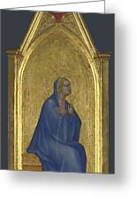 The Virgin   Left Pinnacle Panel Greeting Card
