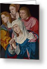 The Virgin Saints And A Holy Woman Greeting Card