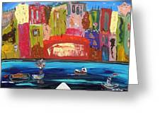 The Vista Of The City Greeting Card