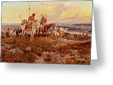 The Wagons Greeting Card