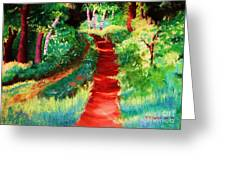 The Walking Trail Greeting Card