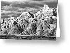 The Wall Black And White Greeting Card