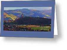 The Wallace Tower Stirling Scotland Greeting Card