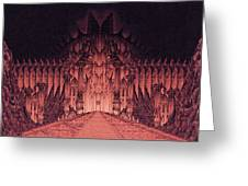 The Walls Of Barad Dur Greeting Card