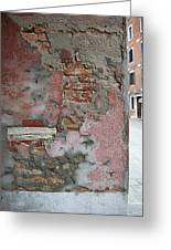 The Walls Of Venice Greeting Card