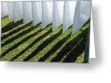 The Washing Is On The Line - Shadow Play Greeting Card