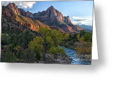 The Watchman And Virgin River Greeting Card