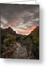 The Watchman Sunset Greeting Card